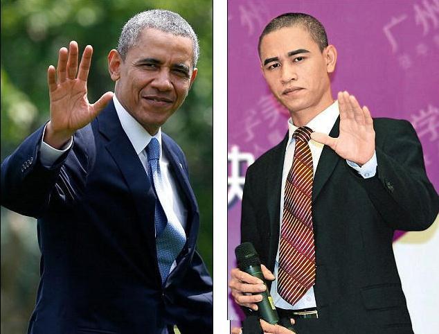 中国版奥巴马对比照