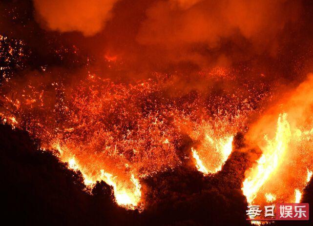 美国加州爆发山火伤亡情况及现场图片曝光