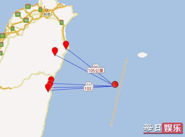 台湾花莲海域地震 5.1级地震有震感吗?